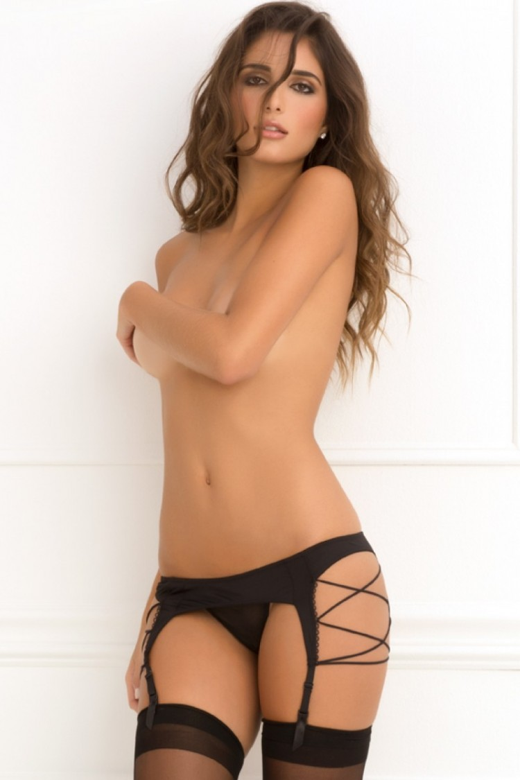 Criss Cross Suspender Belt