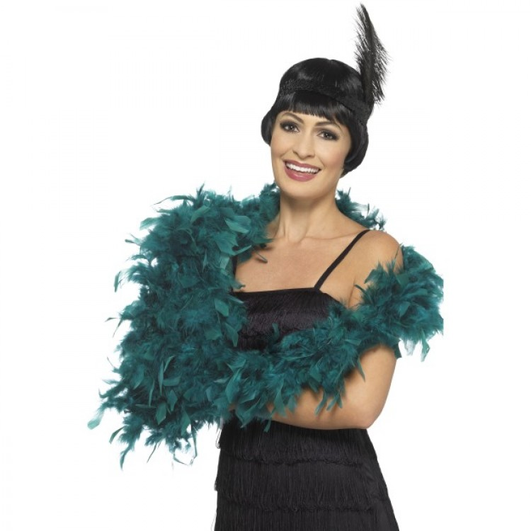 Teal Feather Boa