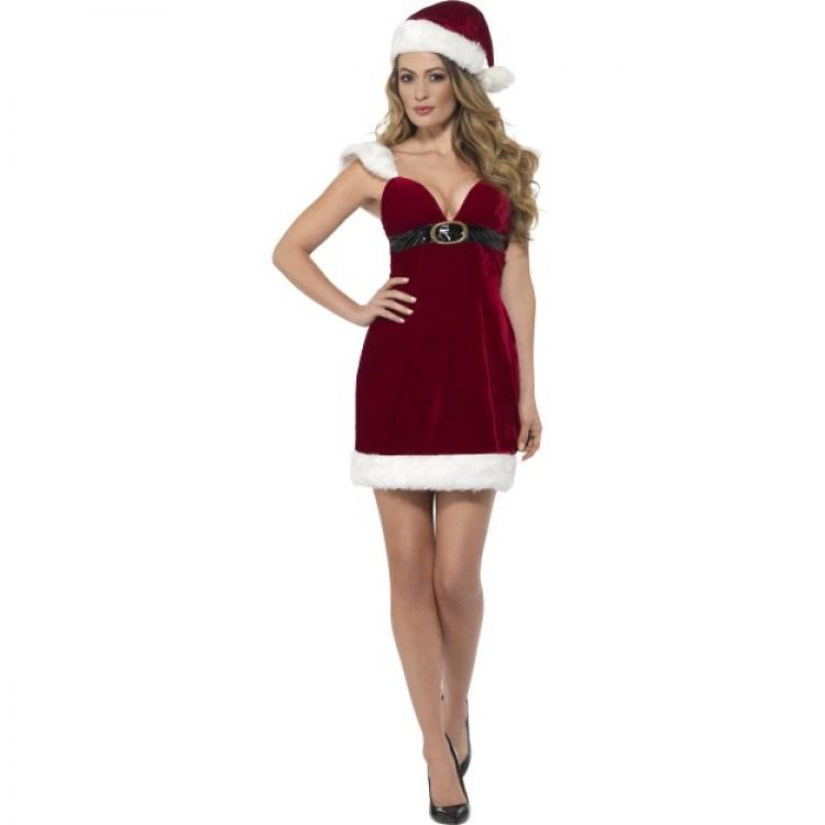 Sexy Miss Santa Mini Dress Costume