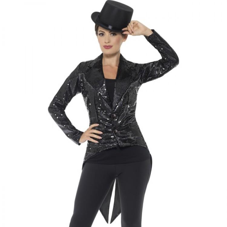 Black Sequin Tailcoat