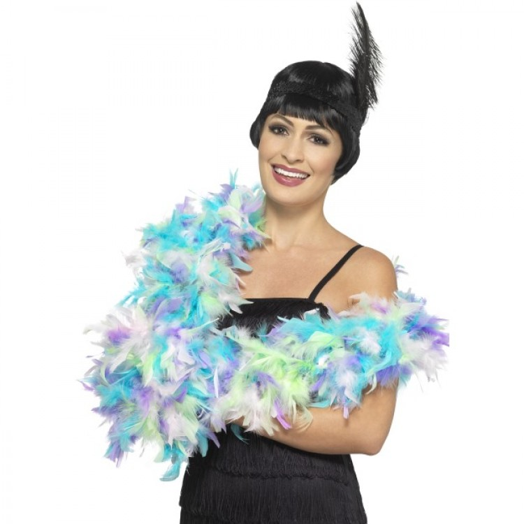 Pretty Mixed Pastel Feather Boa
