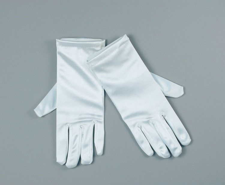 "White Satin 9"" Gloves"