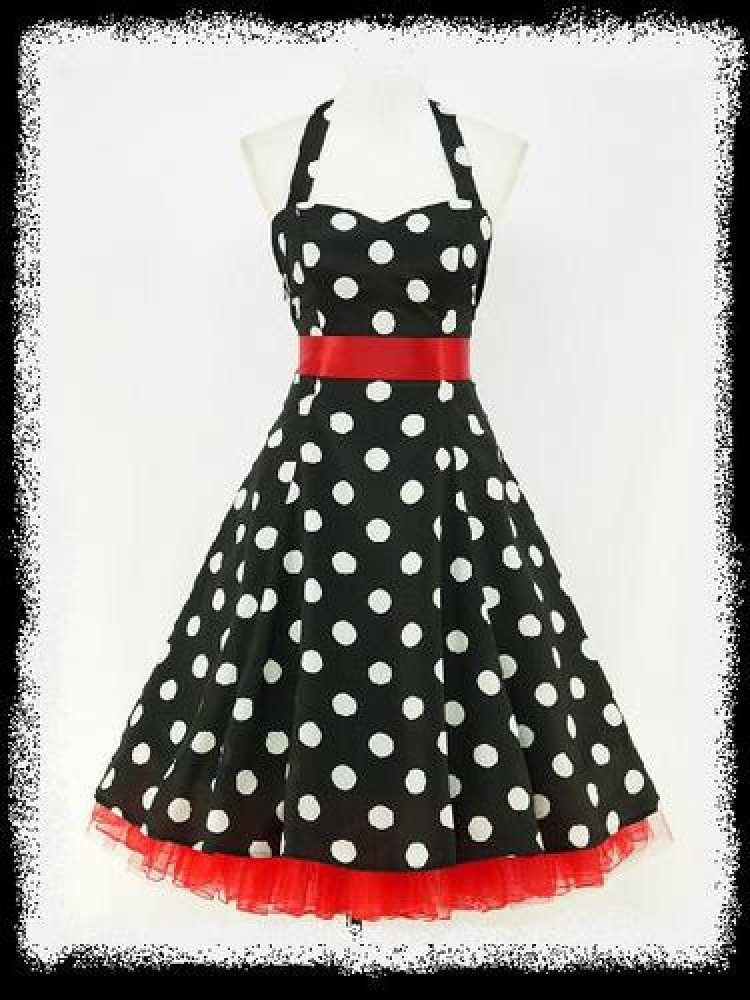 Polka Dot Pin-Up Dress