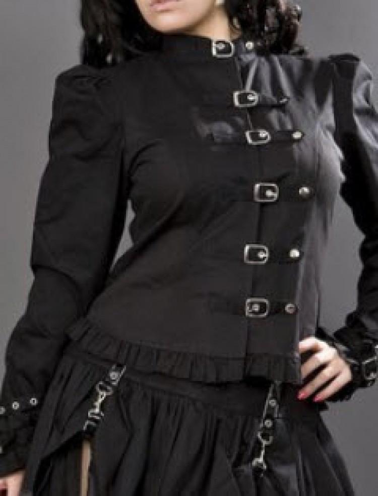 Buckles Jacket in Black