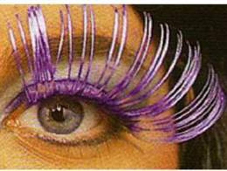 Purple Metallic Eyelashes
