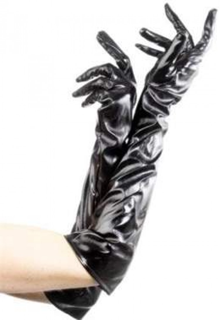 PVC Black Gloves