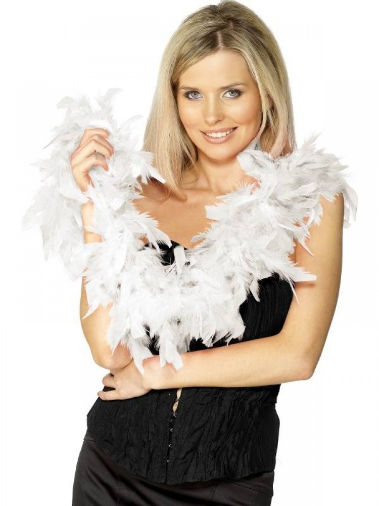 White Burlesque Feather Boa