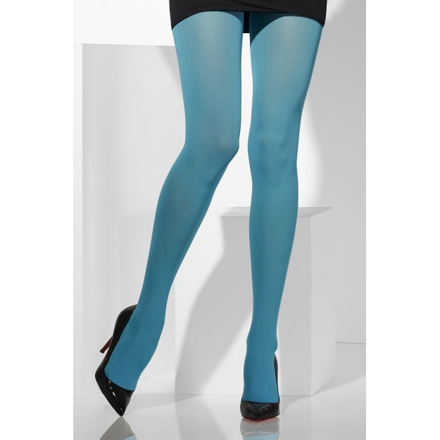 Blue Opaque Tights