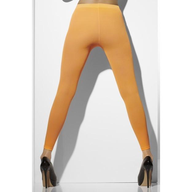 Footless Neon Orange Tights