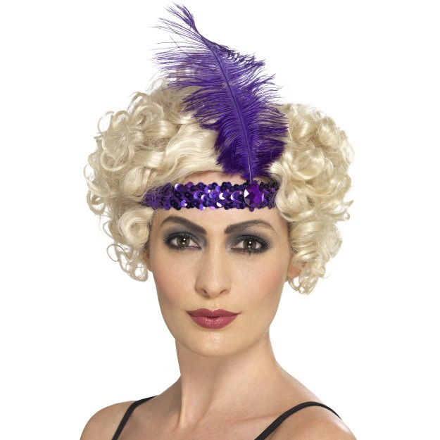 Purple Flapper Headband