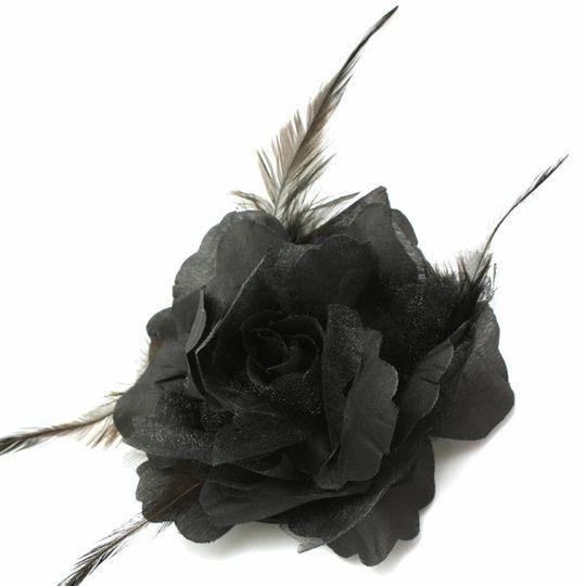 3 in 1 Black Rose Flower Clip