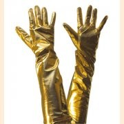 Lame Gold Gloves