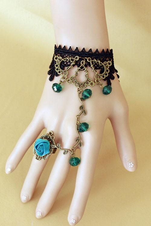 Aqua Rose Bracelet