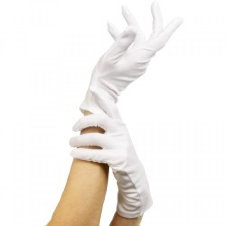 White Short Gloves