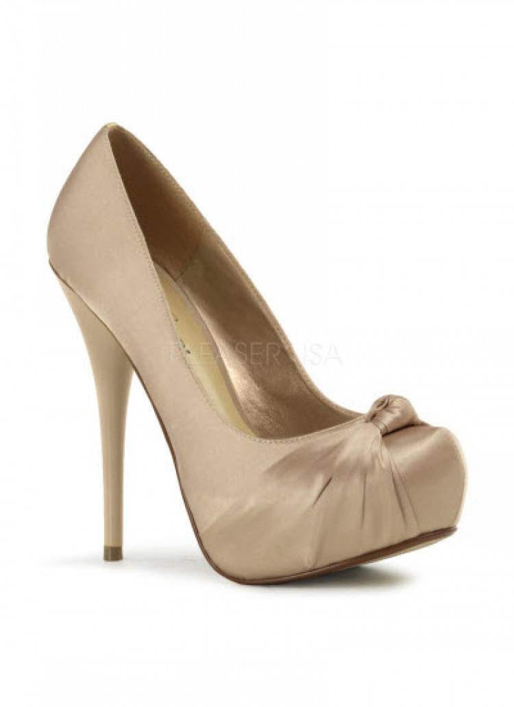 Champagne Satin Gorgeous Shoes (UK 4)