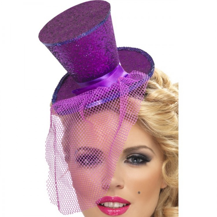 Purple Glitter Hat