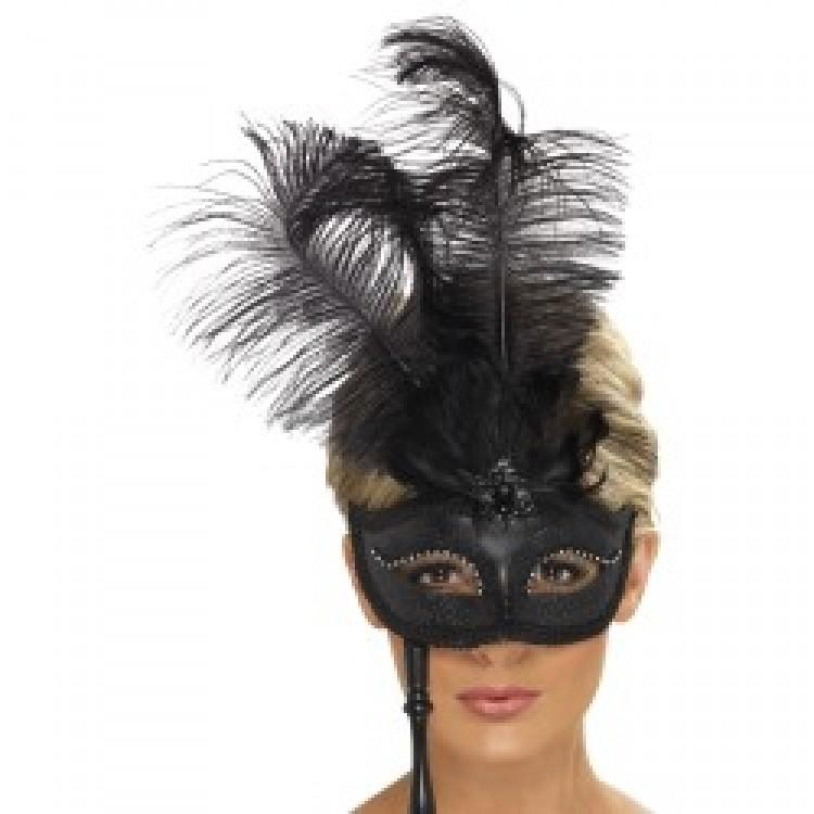 Black Baroque Fantasy Eyemask