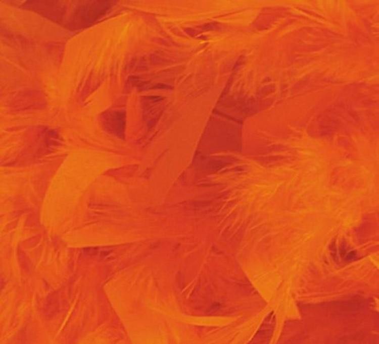 Orange Feather Boa