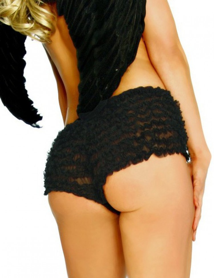 Black Bo Peep Ruffle Burlesque Shorts