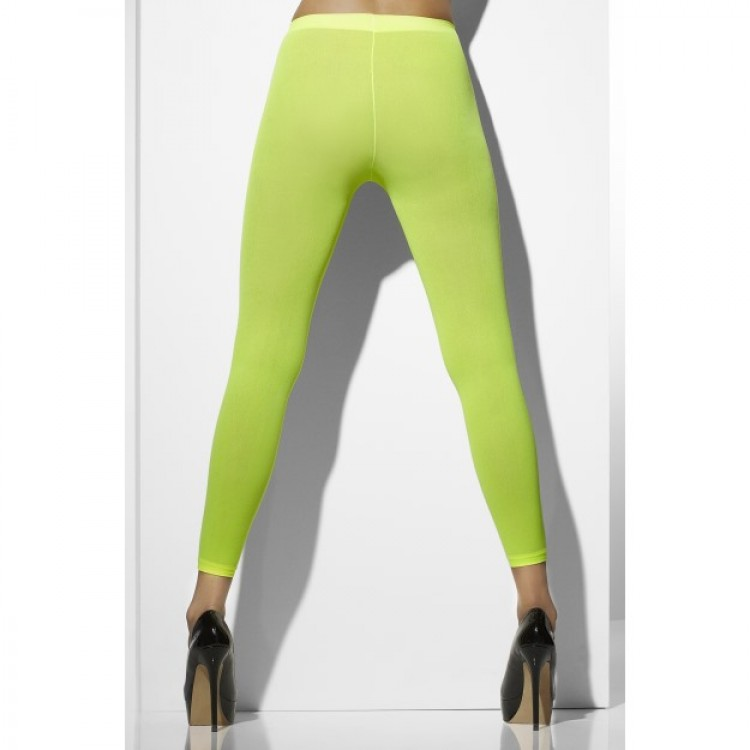 Neon Green Footless Tights