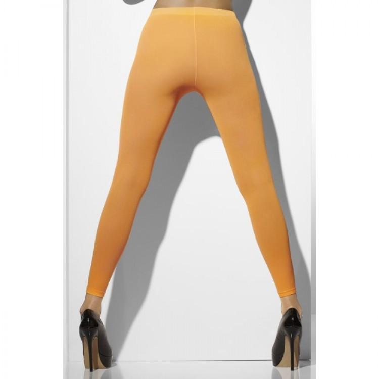 Footless Neon Orange Tights