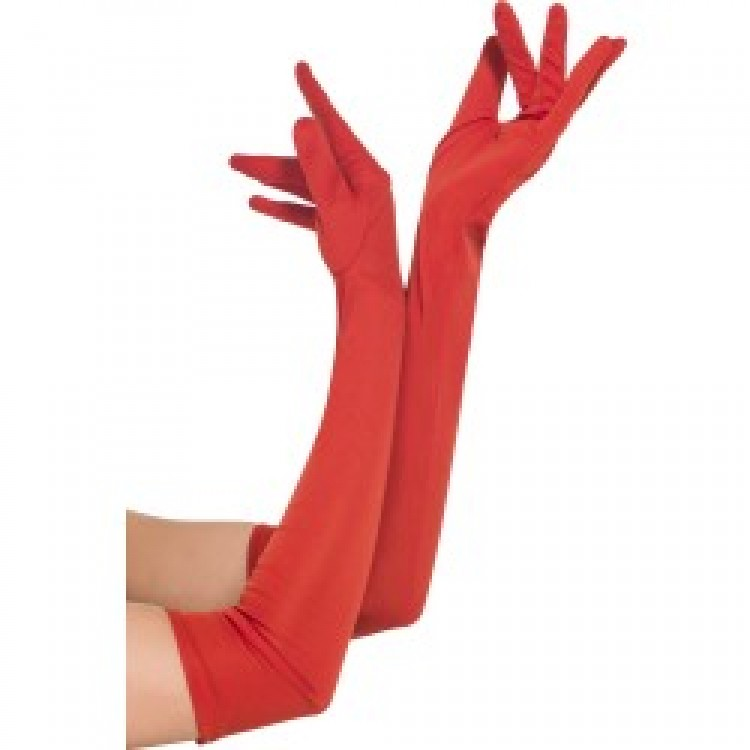 Red Long Gloves