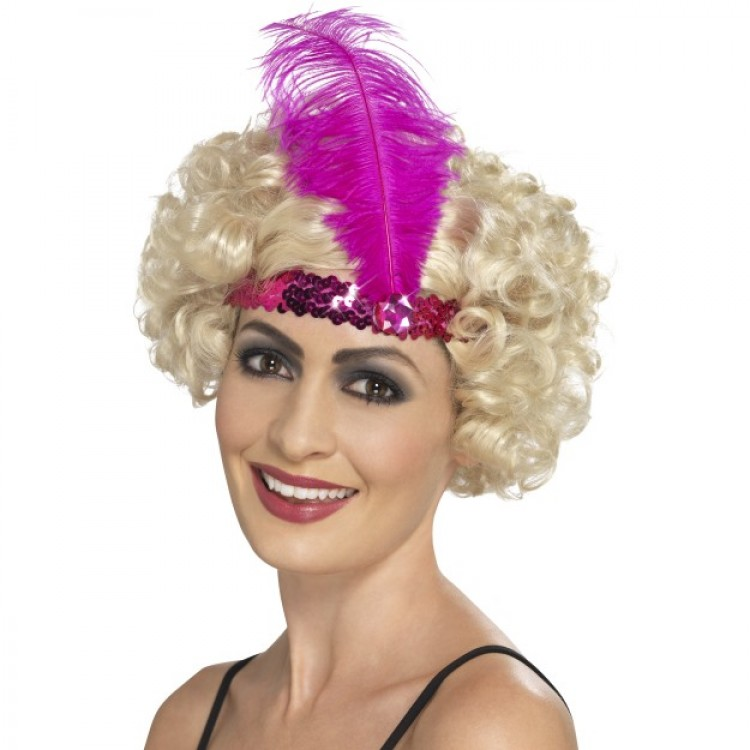 Hot Pink Flapper Headband