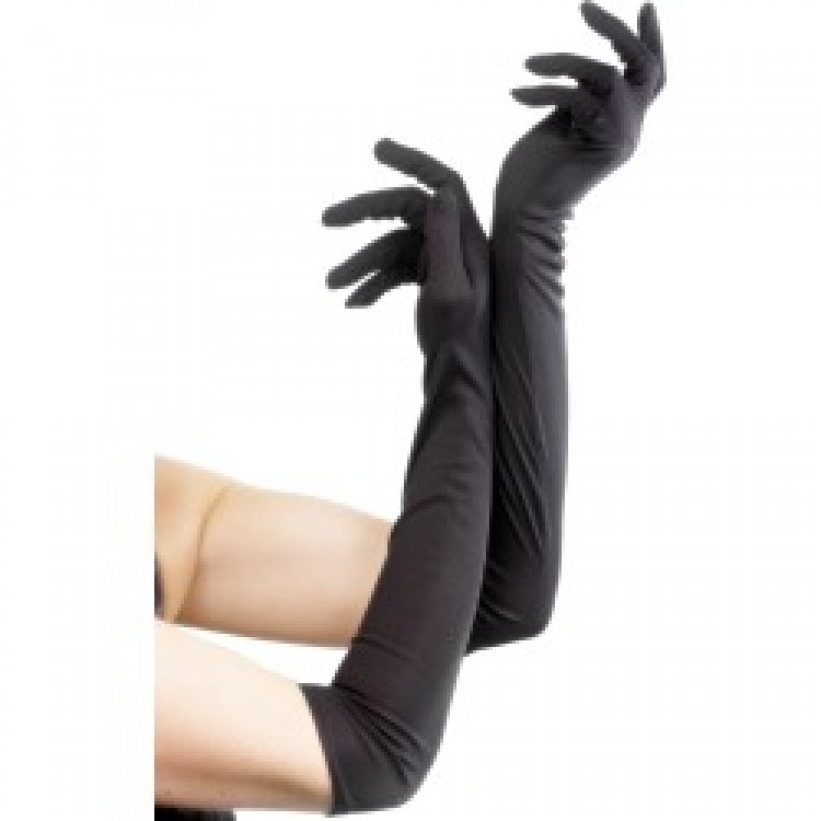 Black Long Gloves
