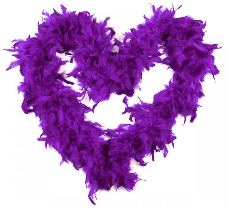 Deluxe Purple Burlesque Feather Boa