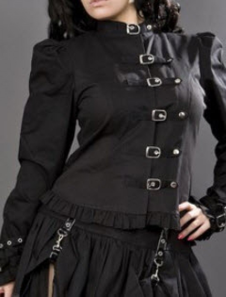 Buckles Jacket in Black