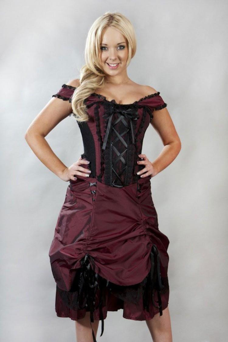 Dita Burgundy Corset Dress
