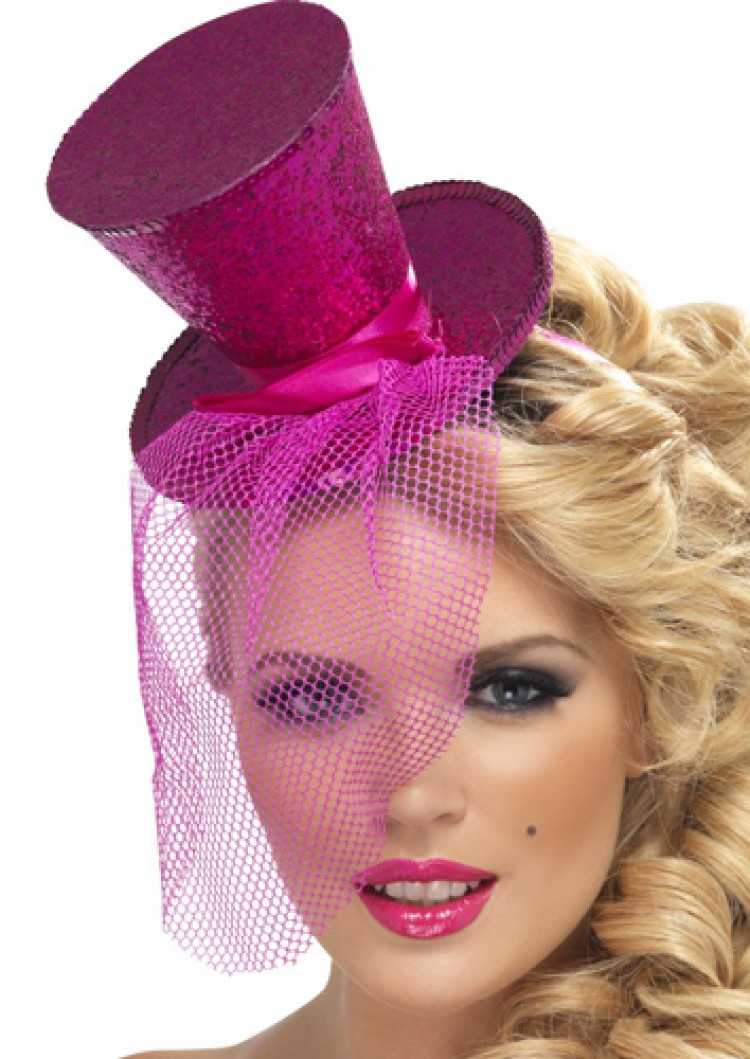 Hot Pink Glitter Hat