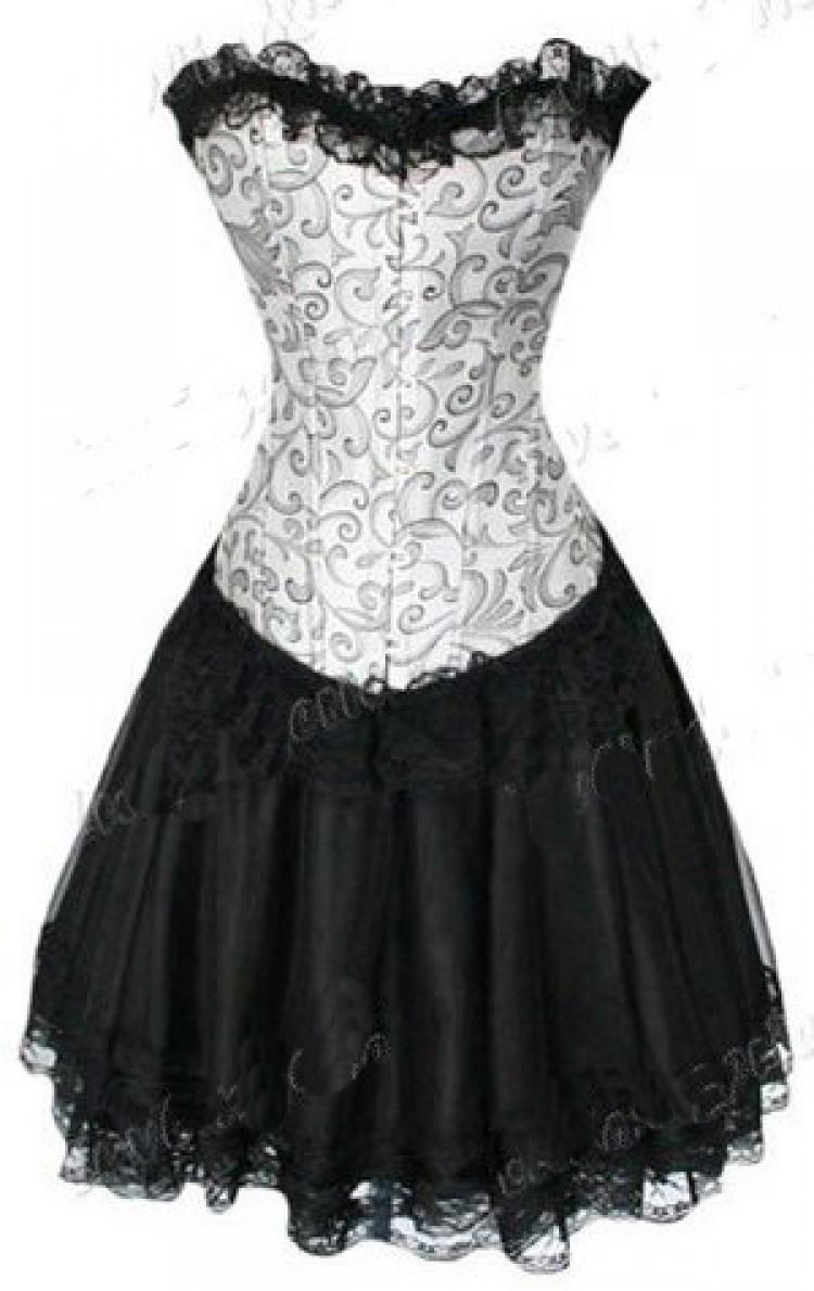 Silver Corset Top & Burlesque Skirt