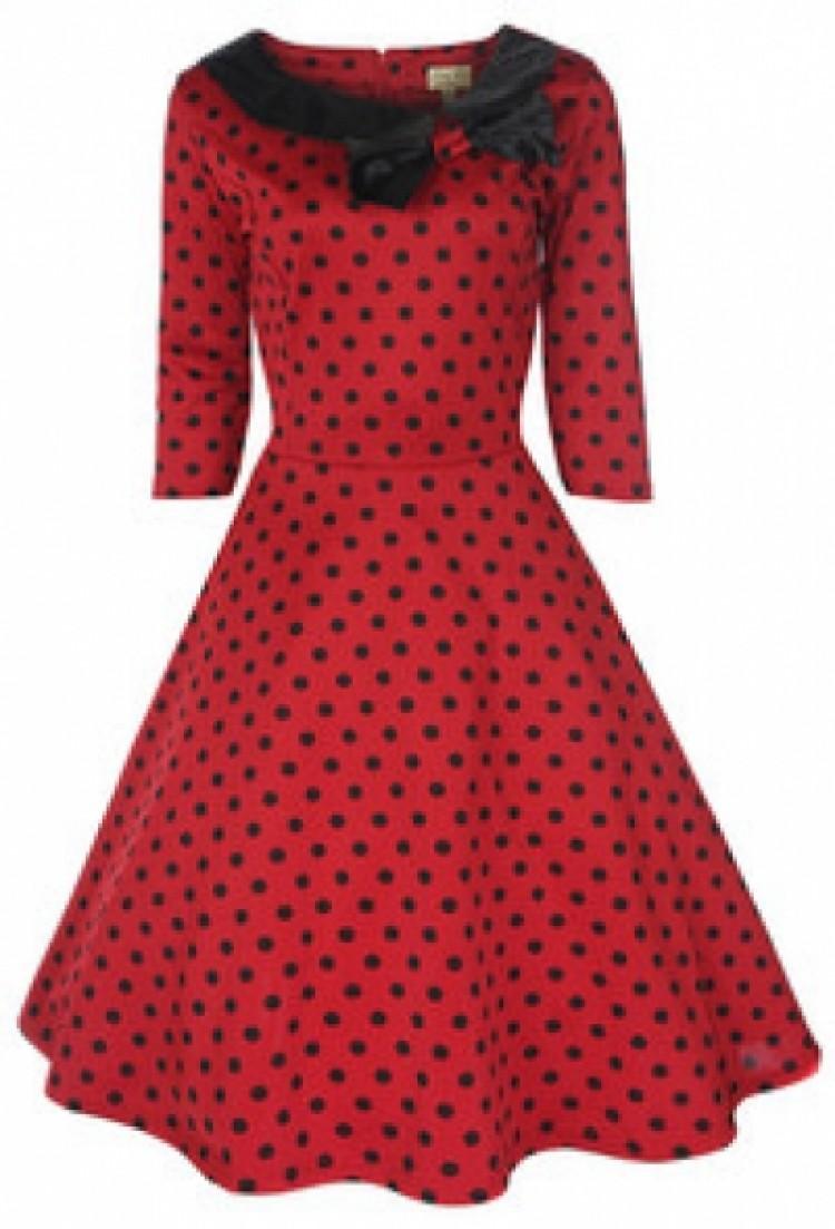 Pin-Up Polka Dot Burlesque Dress