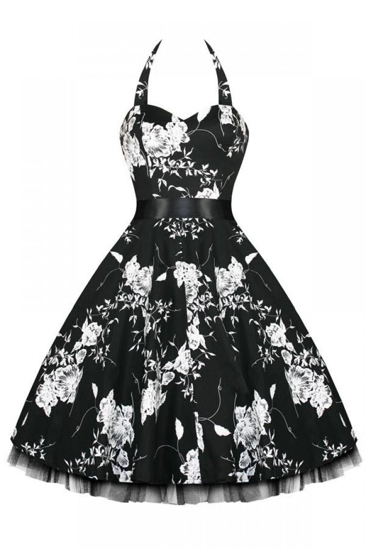 Black Vintage Swing Dress