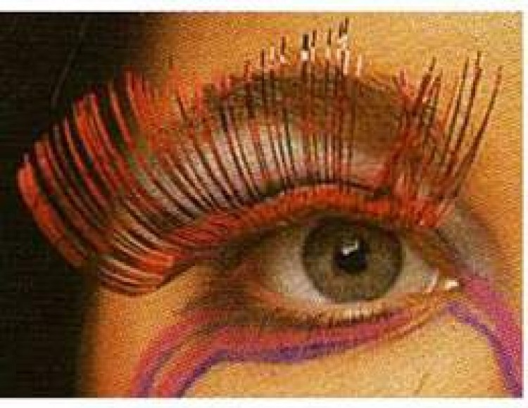 Red Metallic Eyelashes