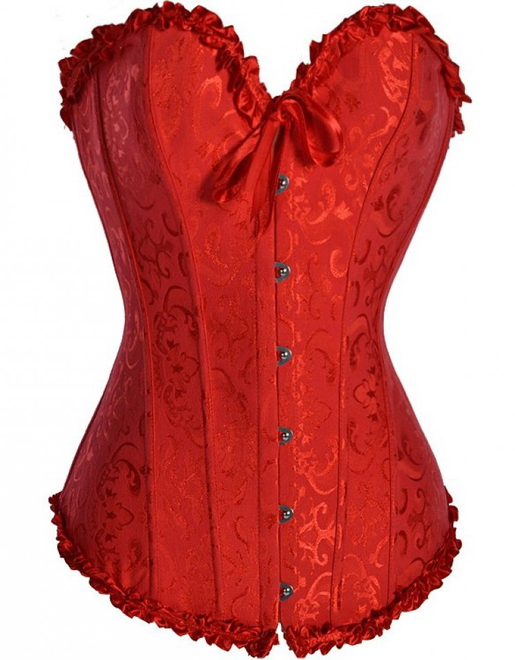 Red Overbust Corset