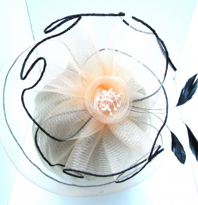 Peach Flower Fascinator