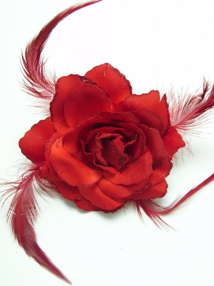 3 in 1 Red Rose Flower Clip