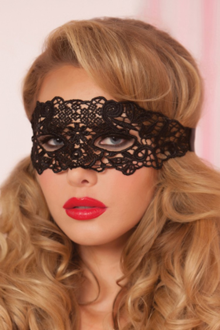 Lace and Satin Ribbon Tie Mask