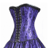 Purple Satin Lace Corset Top